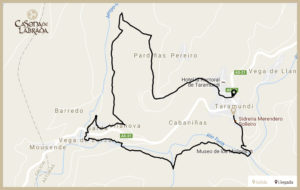 Casona labrada mapa ruta ferreiros