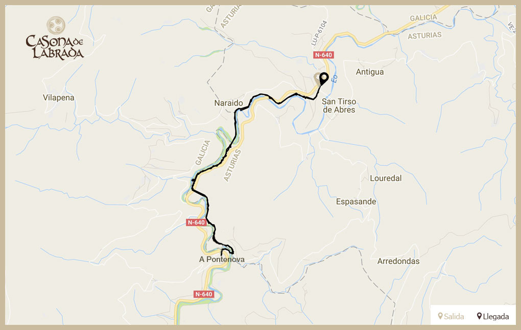 Casona labrada mapa ruta ferrocarril
