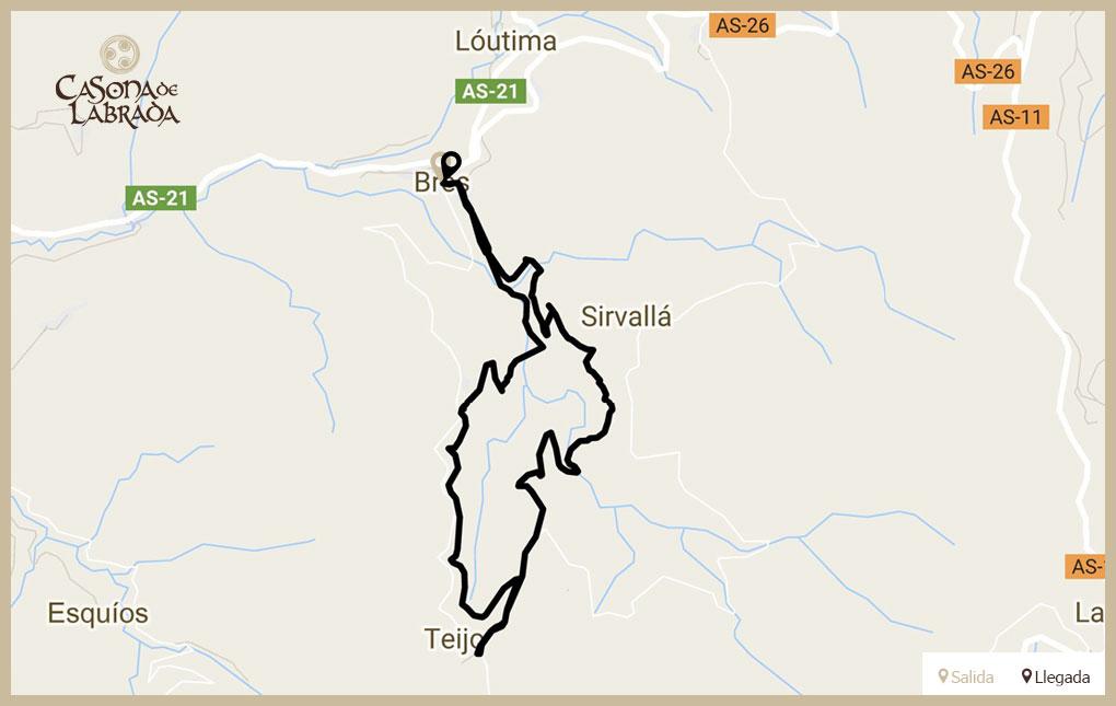 Casona labrada mapa ruta molinos