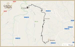 Casona labrada mapa ruta reigadas