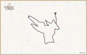 Casona labrada mapa ruta teixo