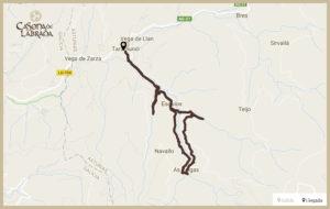 Casona labrada mapa ruta agua